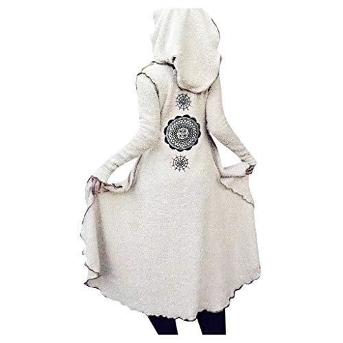 Gothic Jacke Damen Steampunk Mantel Punk Retro Kapuzenpullover Long Coat Piebo Frauen Viktorianischen Pullover Langarmshirt Sweatjacke Teddy Cardigan Plüschjacke Hoodie Parka Uniform Cosplay Kostüm