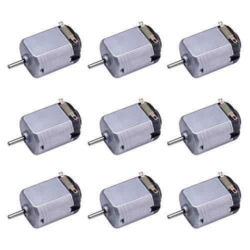 9 Stück DC 1,5–6 V 15000–16500 U/min Mini-Elektromotor für Heimwerker, Spielzeug, Wissenschaft, Experimente