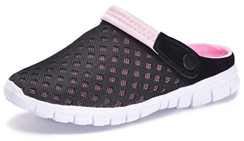 Zuecos Hombres Mujeres Unisex Zapatillas de Playa Sandalias Piscina Vernano Zapatos de Jardín Respirable Malla Casual Pantuflas - Rosa, 37 EU