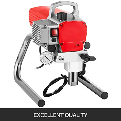 VEVOR Airless Spritzlackiermaschine 1500W 2,5 L/MIN Sprühpistole Airless-Spritzlackiermaschine Wandlackierpistole 50 Hz Airless Farbsprühgerät Sprühmaschine 220V