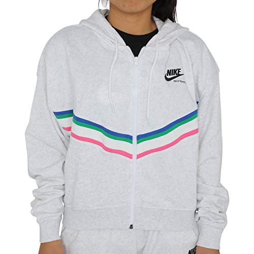 Nike Damen Sportswear Full-Zip Hoodie Weiß M (40-42)