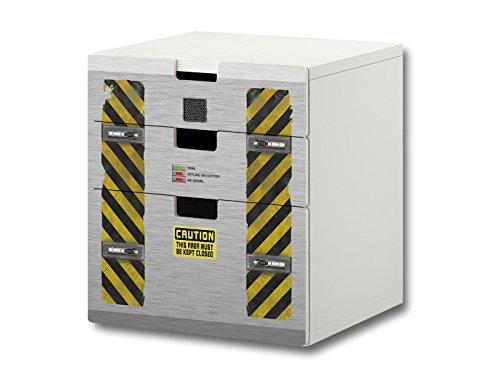 Nave Especial pegatinas muebles | S3K27 | adecuado para la cómoda con 3 cajónes STUVA de IKEA | (mueble no incluido) STIKKIPIX