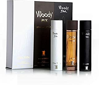 Woody Mix Gift Set for Unisex 3 Pcs 100ml