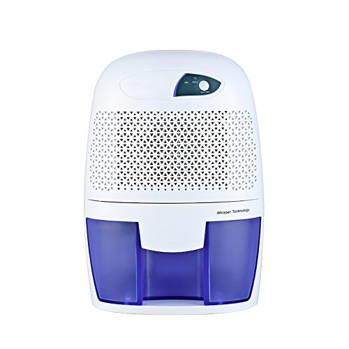 Great Price! Portable Dehumidifier, 17 Oz Removable Water Tank, No Noise To Bathroom, Study, Cupboar...