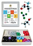 Molecular Model Kit with Molecule Modeling Software and User Guide - Organic, Inorganic Chemistry Set for Building Molecules - Dalton Labs 178 Pcs Advanced Chem Biochemistry Student Edition