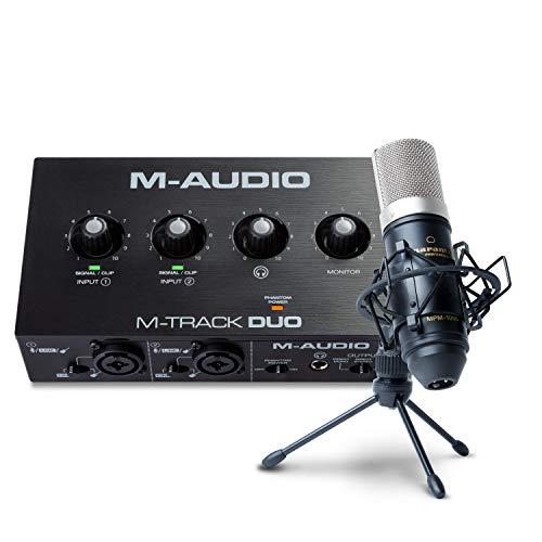Paquete para grabación, streaming y pódcast de M-Audio: interfaz de...