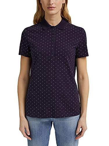 Esprit 031ee1k343 Camiseta, Azul Marino, XS para Mujer