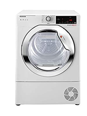 Hoover DX H9A2TCE Freestanding Heat Pump Tumble Dryer, NFC Connected, 9kg Load, White