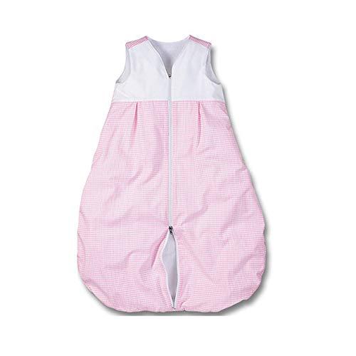 wellyou, Kinder-Baby-Schlafsack, mit Fleece gefüttert, rosa-weiß Vichykaro, für Mädchen, Größe 92-122