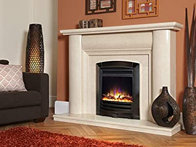 "New Designer Celsi Fire - Hearth Mounted Electric Fire 16"" Electriflame XD Decadence Black Nickel"
