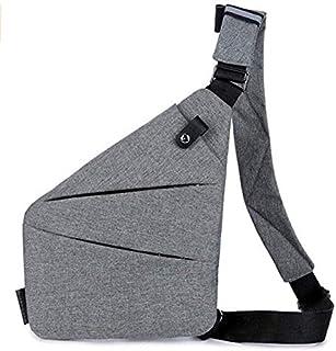 Sling bag men's chest bag sports pockets multi-function personal shoulder bag anti-theft bag digital storage bag for all o...