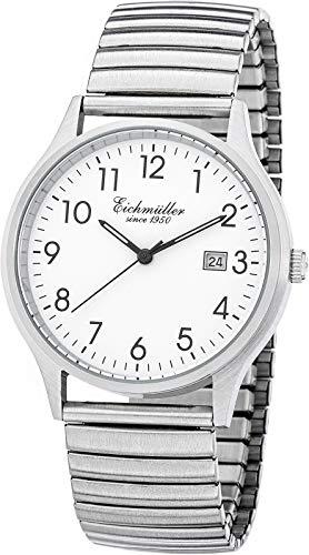 Herren Klassische Armbanduhr 38mm Flexband 5 ATM Quarz Datum 3052-03