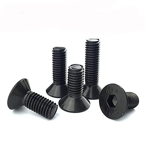 Tornillos de rosca para zurdos DIN7991 M4 M5 M6 M8 M10 M12 Grado 10,9 Aleación de acero Tornillo hexagonal de cabeza plana -M10x40 (5 piezas)