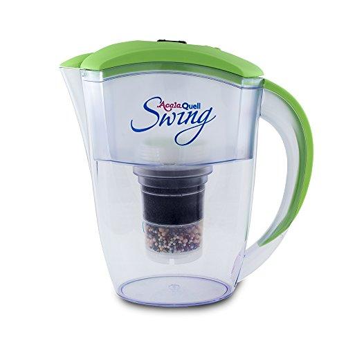 Wasserfilter AcalaQuell® Swing | Hellgrün | Aktivkohle Wasserfilter | Höchste Filterleistung - mehrschichtig | BPA u. BPB frei | ReNaWa® - Technology | Kreiert köstliches, wohltuendes Wasser