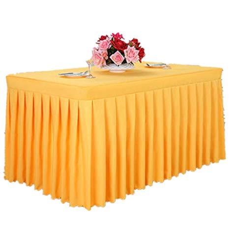 N/ A Tischmatte Tischdecke Waschbares Gewebe Tischdecke Dickes Polyester Minimalist Modern Exhibition Event Desk Check-in Tisch Gelb, 120 cm x 40 cm x 75 cm