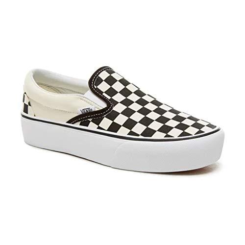 (バンズ) VANS SLIP-ON PLATFORM スニーカー スリッポン チェッカー 靴 厚底 黒 白 CHECK Black White VN00...