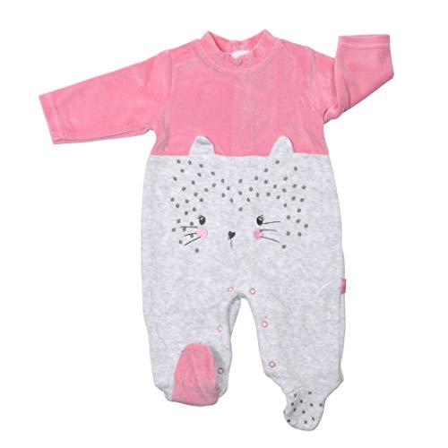 YATSI - Pelele BEBÉ bebé-niños Color: Gris/Rosa Talla: 6M
