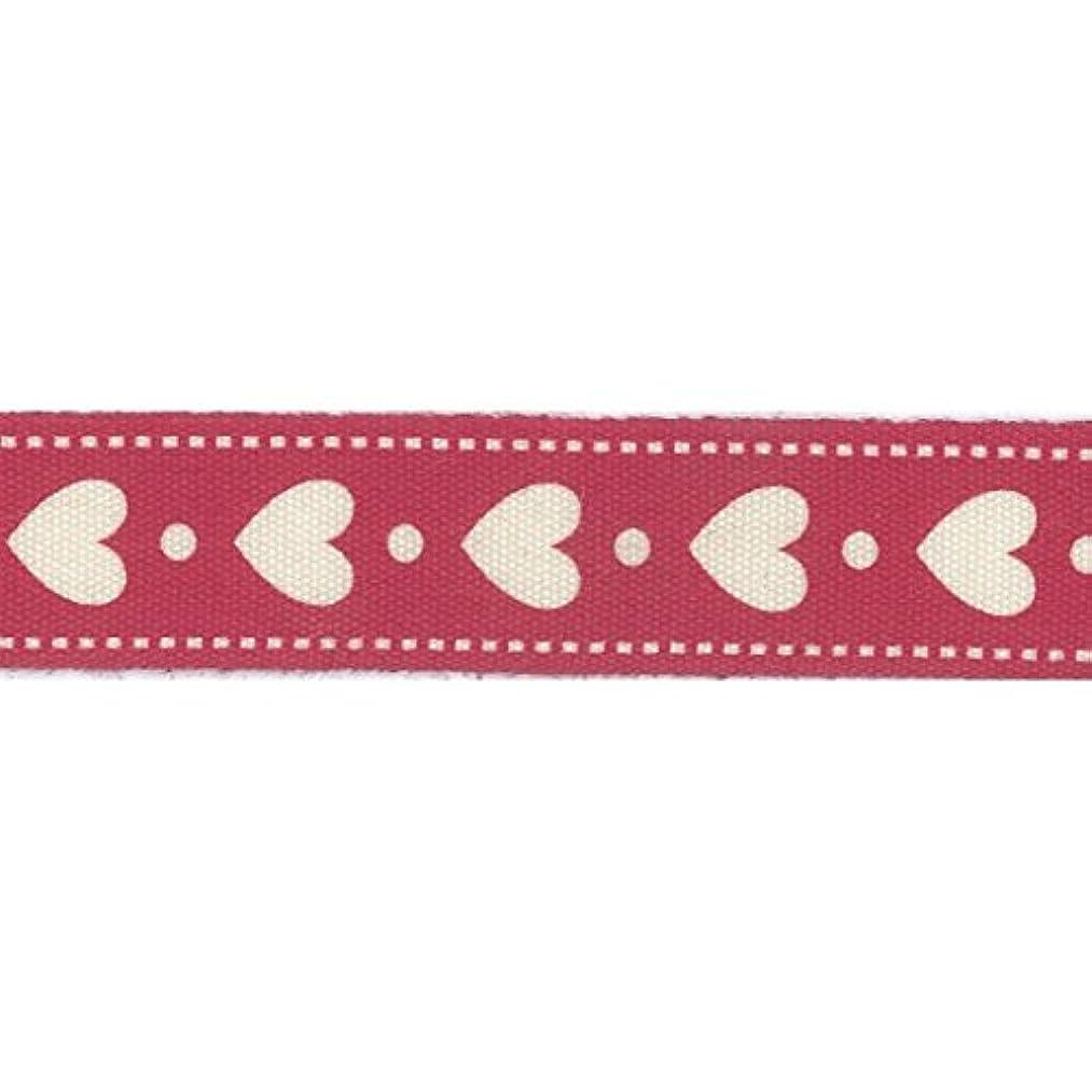 Vaessen Creative Printed Ribbon, Fabric, Red/White, One Size