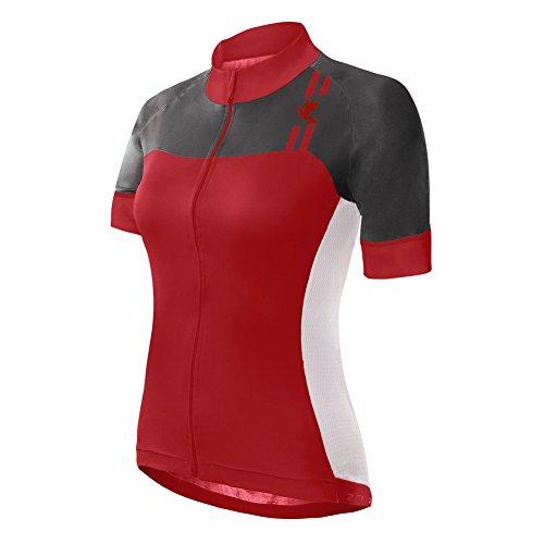 UGLY FROG Damen Kurzarm Radtrikot,Fahrradtrikot mit 3 Rückentaschen,Fahrradbekleidung mit durchgehendem Reißverschluss,Feuchtigkeitstransport,Atmungsaktiv,Schnell Trocknend