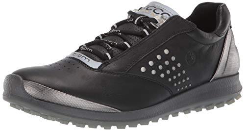 ECCO Women's Biom Hybrid 2 Golf Shoe, Black Yak Leather, 8 M US