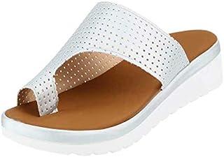 Women Bunion Sandals, Platform Wedge Slippers Orthopedic Flip Flops, Summer Beach Travel Shoes Comfortable Flip Flop Shoes Suitable for Everyday Wear