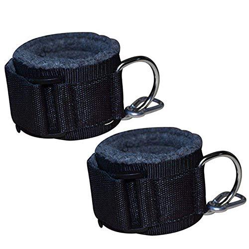 Fácil de llevar 2pc aptitud banda de resistencia con cierre de tiras puños CableMachine Musculation pierna de la cadera entrenamiento del entrenamiento de culturismo Gym Equipment, equipo de la aptitu