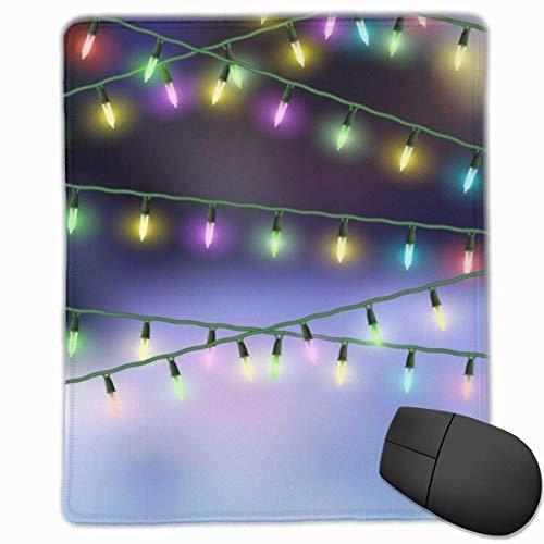 Mauspad Weihnachtsbeleuchtung Mauspadmatte Schnelle und genaue Bewegung Rutschfeste Basis, glatte Oberfläche
