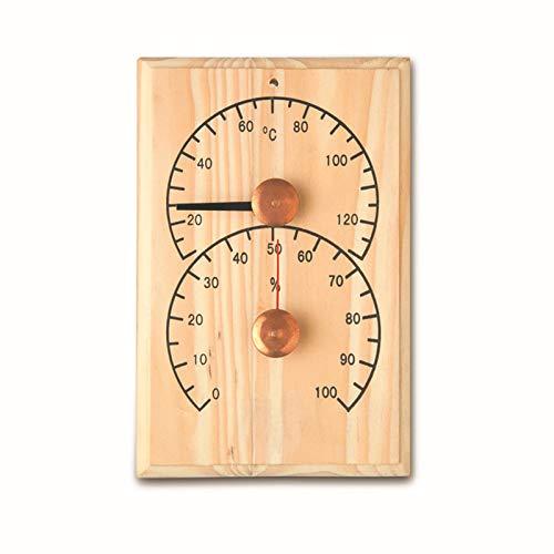 SHUIXIN 2-in-1 Digitale Uhr für Bad, Dampf und Sauna, aus Holz