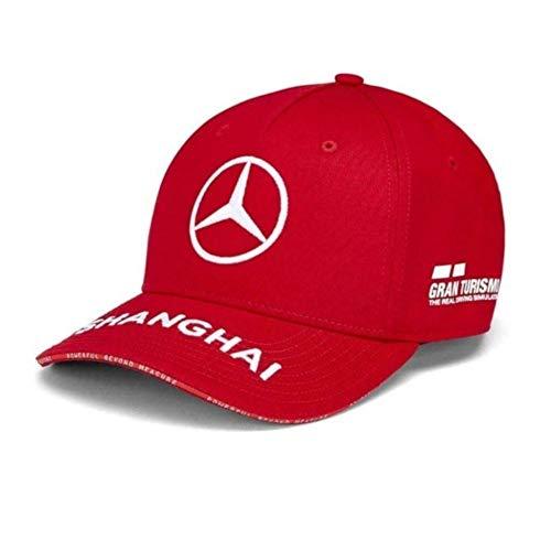 Mercedes AMG Petronas F1 Lewis Hamilton F Brim Berretto Nero Ufficiale 2019