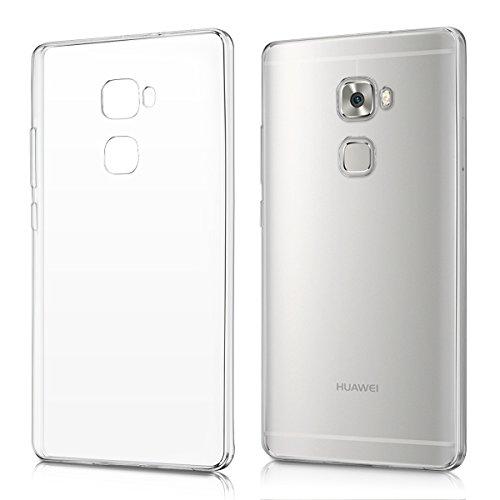 kwmobile 1x Funda Compatible con Huawei Mate S - Case Ultra Slim de TPU Silicona - Cover en Transparente