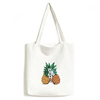 DIYthinkerPineapple Trend Couple Tropical Fruit Tote Canvas Bag Shopping Satchel Casual Handbag