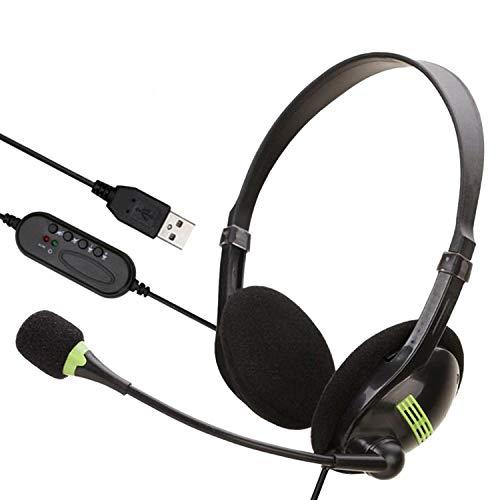 MILEXIO ヘッドセット usb テレワーク ミュート機能付き 両耳ボイスチャット用ヘッドフォン PC/Windows/Mac対応