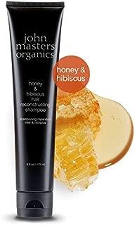 John Masters Organics - Honey & Hibiscus Hair Reconstructing Shampoo - Intense Moisturizing Shampoo to Restore & Revitalize Dry or Damaged Hair - 6 oz