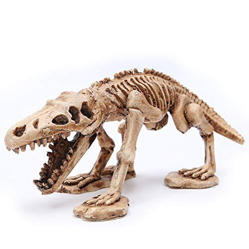 VOANZO Adorno de acuario de resina, esqueleto de dinosaurio, decoración de paisajismo, esqueleto de dinosaurio artificial, adorno de esqueleto para pecera, acuario de escritorio