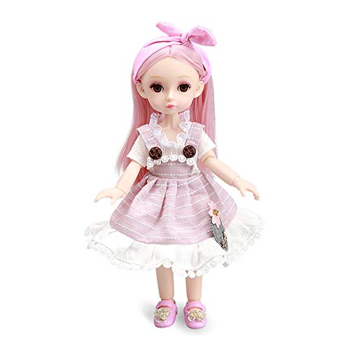 Little Bado Girl Doll 10 Inch 13 Removable Joints Dolls for Age 3 4 5 6 7 Year Old Girls Dolls Kids Dolls for Girls Baby Cute Doll Toy with Clothes and Shoes Great Birthday Gift for Boys Girls Siqi
