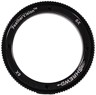 Shrewd 6X Lens with Housing Verde Vitri 35mm/42mm Archery Equipment, Black