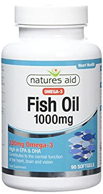 Natures Aid Fish Oil Capsules 1000mg Pack of 90