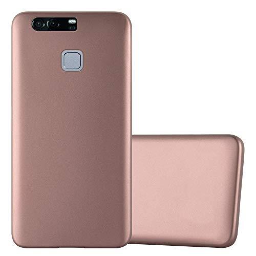 Cadorabo Funda para Huawei P9 Plus en Metallic Oro Rosa - Cubierta Proteccíon de Silicona TPU Delgada e Flexible con Antichoque - Gel Case Cover Carcasa Ligera