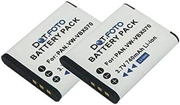Panasonic VW-VBX070  VW-VBX070E-W PREMIUM Replacement Rechargeable Video Camera Battery from Dot Foto 3 7v 740mAh Year Warranty Panasonic HX-DC1  HX-DC10  HX-DC15  HX-DC2  HX-DC3  HX-WA10