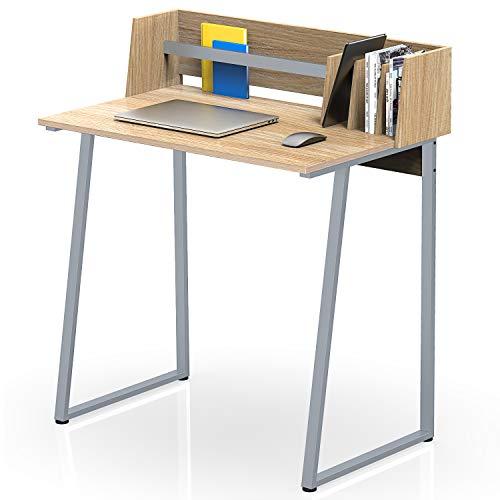 FITUEYES Computertisch mit Aufbewahrung Holz Eiche Schreibtisch Workstation für Haus Büro 82,4x51,2x93,5cm CD108206WO