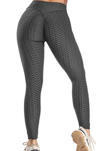 FITTOO Leggins Sportivi Donna Push up Pantaloni Tuta Yoga Pants Sexy Fitness Ginnastica Alta Elastico, M, Nero