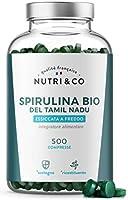 Spirulina Biologica   500 Compresse Bio da 500 mg Pure Senza Eccipienti   15 a 19% di Ficocianina   Polvere Essiccata e...