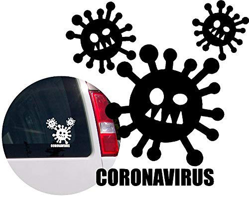 Coronavirus (Covid 19) Vinyl Decal Sticker for Bumper Car Windows Truck Wall Laptop Cell Book Bike Cup 4x4,Off Road Boat, Motorcycle, RV Trailer (Designs 2)