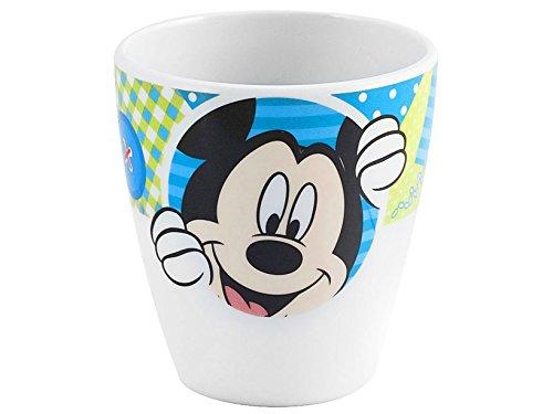 lulabi Disney Mickey Gobelet en mélamine, bleu clair, 170 cc