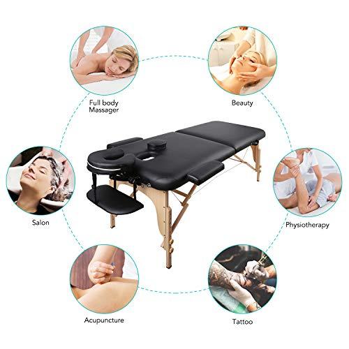 Naipo Lettino Massaggio Lettini per Massaggi Pieghevole 2 Zone...