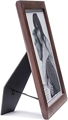 Malden 8x10 Picture Frame - Wide Real Wood Molding, Real Glass - Stonewashed Walnut