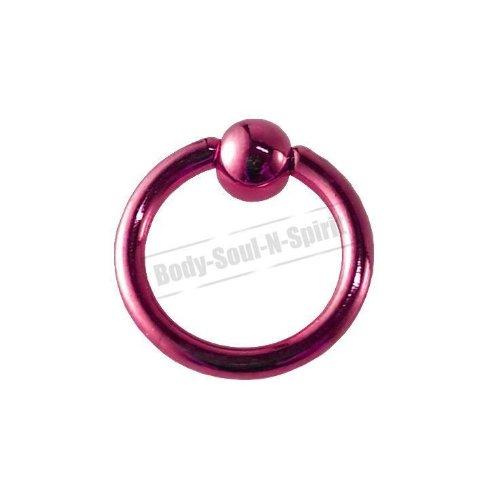 ROSE Cercle 7mm BSR Perçage corps Boule Nez Lèvre Cartilage Oreille 316L acier