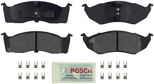 Bosch BE591H Blue Disc Brake Pad Set with Hardware for Select Chrysler, Dodge, Eagle, and Plymouth Cars and Vans - FRONT