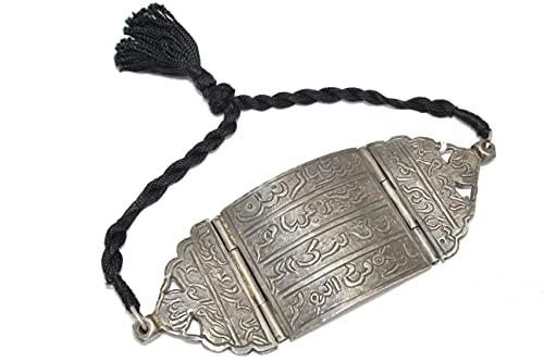 PH Armlet 925 Brazalete de plata de ley 925 con escritura islámica grabada piedra P 716