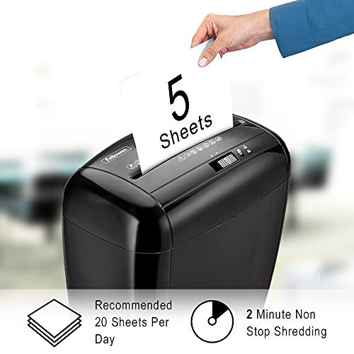 Fellowes Powershred P-35C 5 Sheet Cross Cut Personal Shredder With Safety Lock